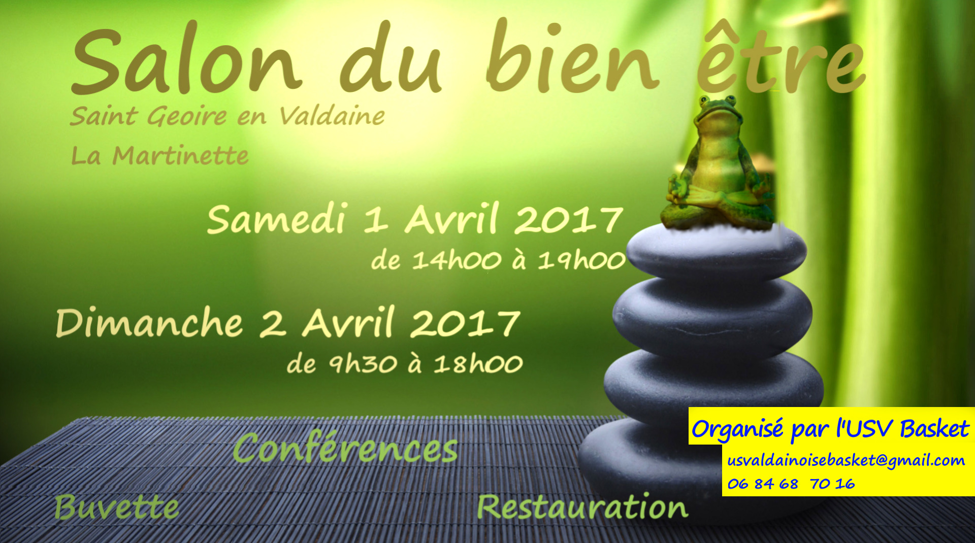 Salon du bien tre 2017 union sportive valdainoise basket for Salon du cannabis 2017